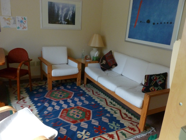 Image of a cheerful, comfortable therapy office
